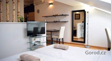 Мансардная квартира 1+кк, 39м2, Прага 5, Смихов